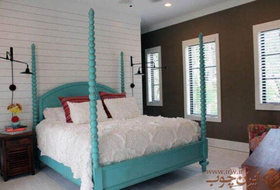 دکوراسیون اتاق خواب با تخت خواب های رنگی
