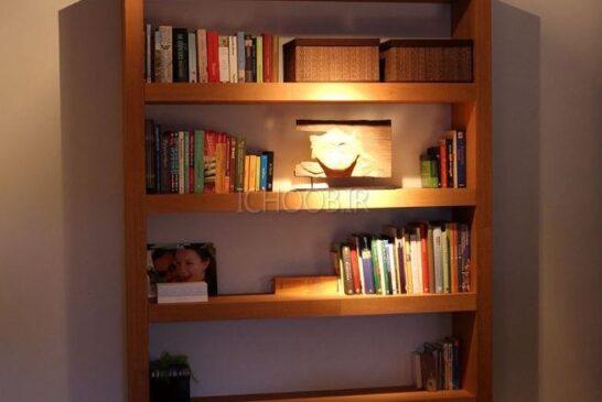 آموزش ساخت قفسه کتابخانه
