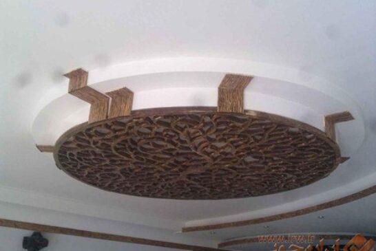آموزش ساخت لوستر چوبی