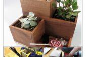 آموزش ساخت جعبه چوبی گلدان جاقلمی جاخودکاری دکوری تزئینی دکوراسیون
