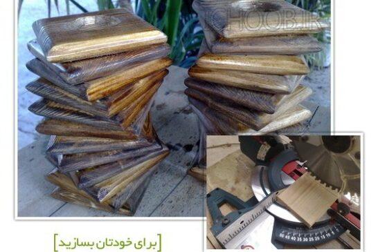 آموزش ساخت جاشمعی با چوب های دور ریختنی