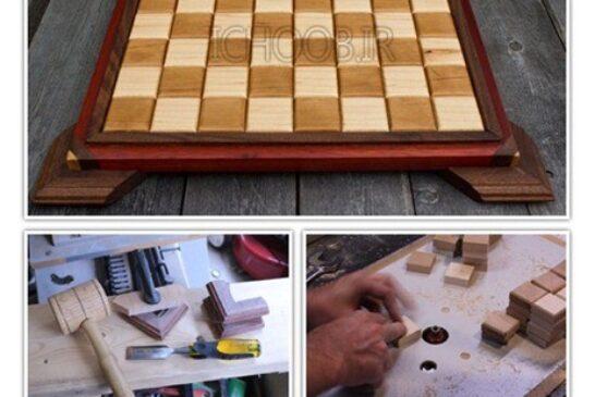 آموزش تصویری ساخت صفحه شطرنج چوبی
