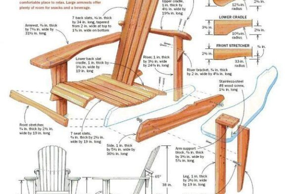 چگونه صندلی چوبی بسازیم