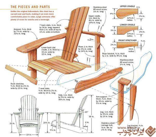 چگونه صندلی چوبی بسازیم ایران چوب