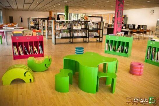 طراحی خلاقانه کتابخانه برای کودکان