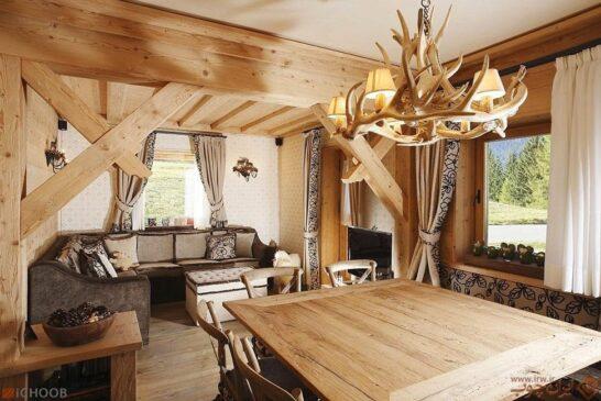 استفاده از چوب در دکوراسیون درختی زیبا