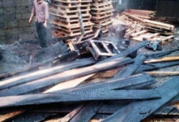 آتش سوزی در کارگاه چوب به همت آتش نشانان شهر باران مهار شد