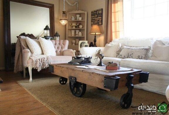 ۱۷ میز جلو مبلی متفاوت با وسایل دور ریختنی !