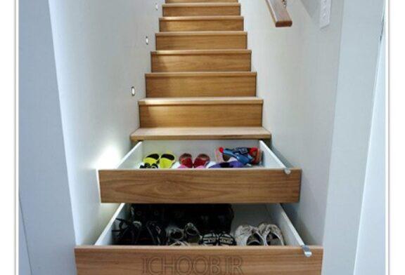 ایده ی جاسازی کشو در زیر پله