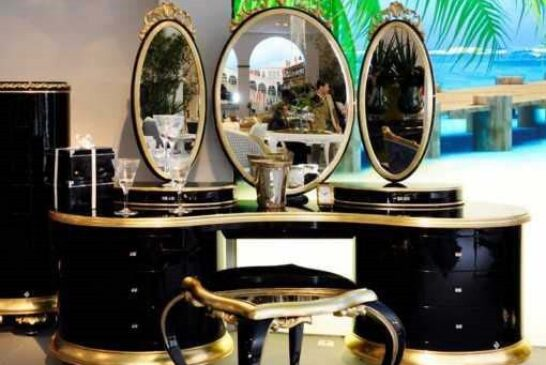 مدل میز کنسول و آیینه منبت کاری شده
