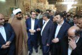 بازدید وزیر صمت ازواحد تولیدی مبل و منبت در شهرستان ملایر
