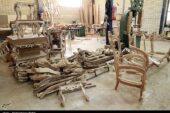 بیش از ۴۰۰۰ کارگاه تولیدی مبل و منبت در تویسرکان فعالیت میکنند