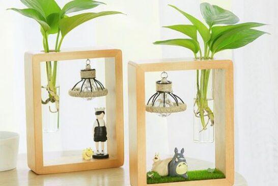 ایده های ناب گلدان های چوبی فانتزی